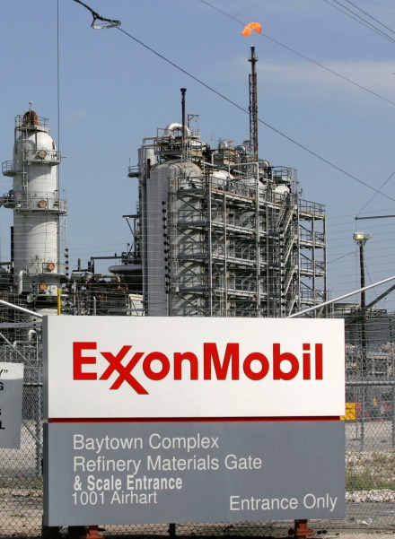 File photograph of Exxon Mobil refinery in Baytown, Texas